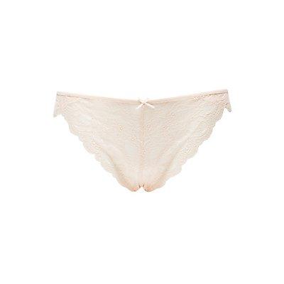 Plus Size Caged-Back Lace Panties