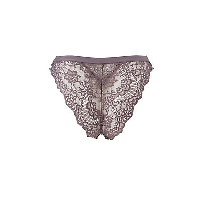 Plus Size Lace Caged Cheeky Panties