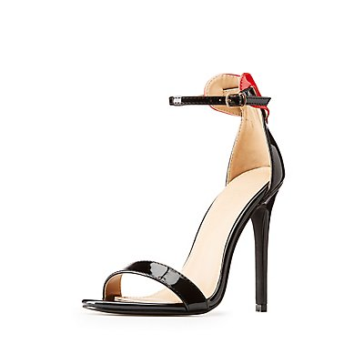 Ankle Strap Heart-Trim Dress Sandals