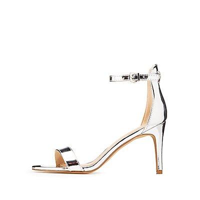 Metallic Ankle Strap Dress Sandals