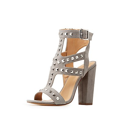 Studded Caged Dress Sandals