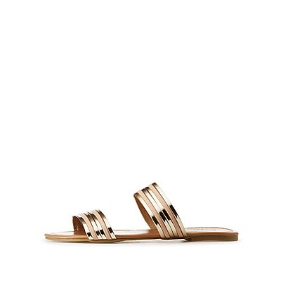 Metallic Two-Strap Slides