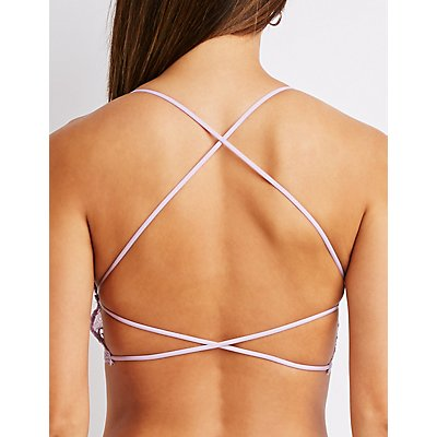 Crochet Lace Cross Back Bralette