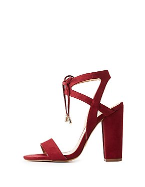 Lace-Up Ankle Strap Sandals