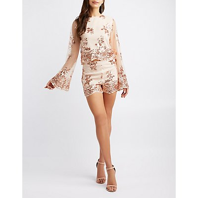 Sequins Embroidery Dress Spring/summer Charlott