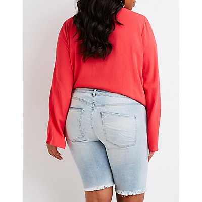 Plus Size Refuge Bermuda Shorts