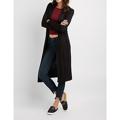 Hooded Open-Front Duster