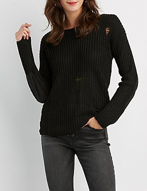 Destroyed Pullover Sweater