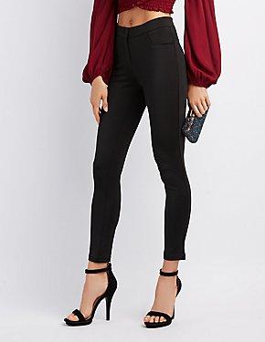 Satin Skinny Trousers