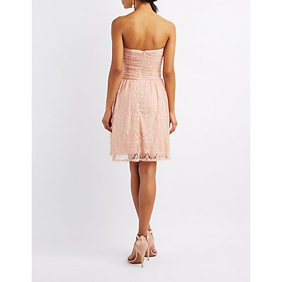 Sweetheart Lace Skater Dress