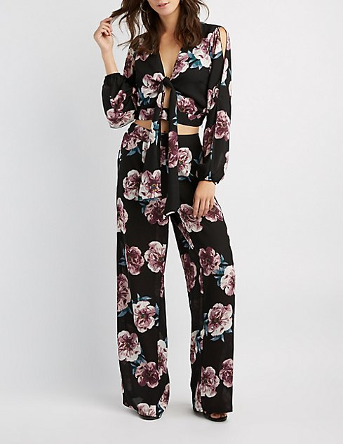 Floral Palazzo Pants | Charlotte Russe