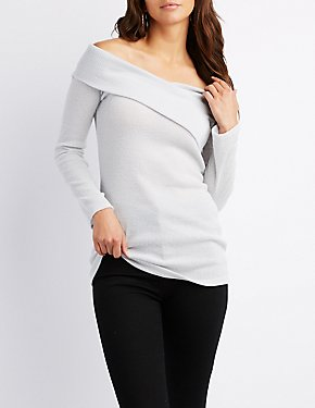 Ribbed Bodycon Twist-Front Top