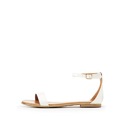 Patent Ankle Strap Sandals