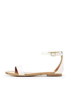 Patent Two-Piece Sandals