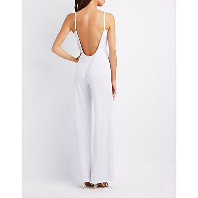 Lace Detailed Open Back Jumpsuit