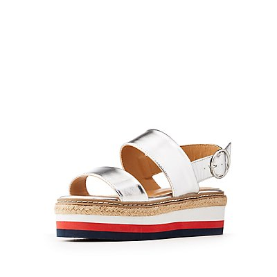 Bamboo Metallic Flatform Sandals