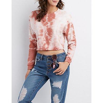 Tie-Dye Pullover Skimmer Sweatshirt