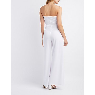 Notched Cut-Out Split Leg Jumpsuit