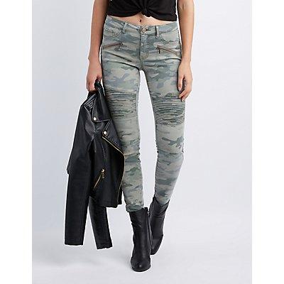 Refuge Camo Moto Skinny Jeans
