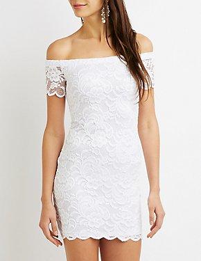 Scalloped Lace Bodycon Dress