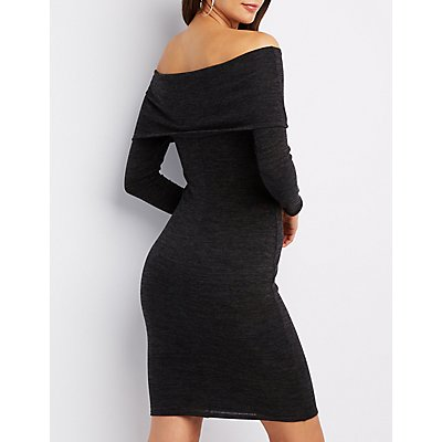 Hacci Off-The-Shoulder Dress