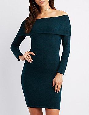 Hacci Off-The-Shoulder Dress