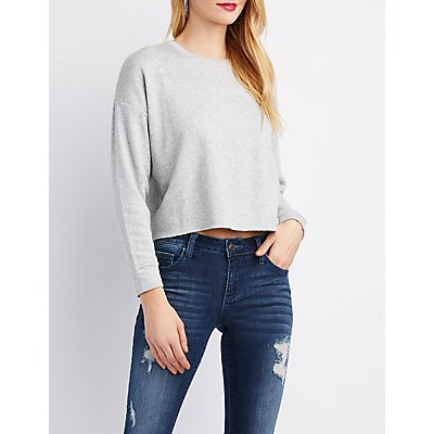 French Terry Cropped Sweater