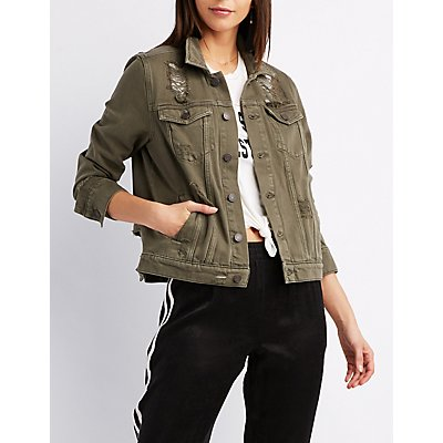 Refuge Boyfriend Destroyed Denim Jacket