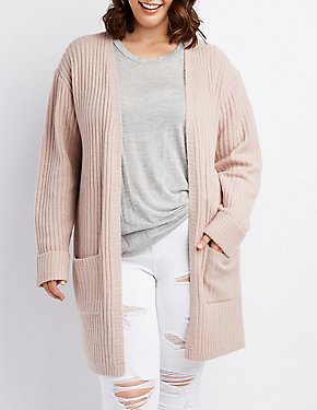 Plus Size Open Knit Duster Cardigan