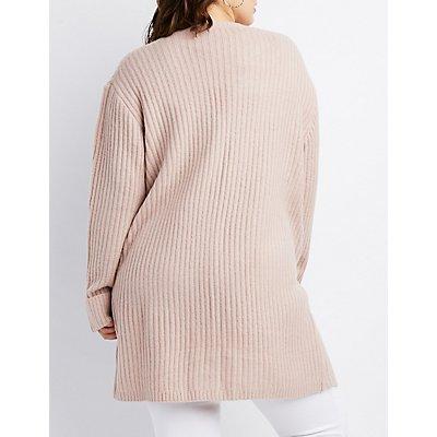 Plus Size Open Knit Duster Cardigan