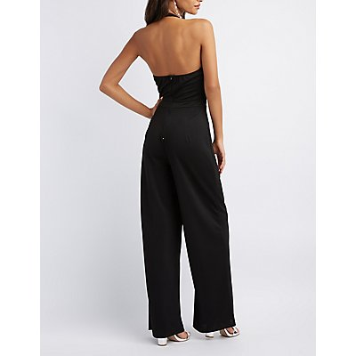 Caged Halter Jumpsuit
