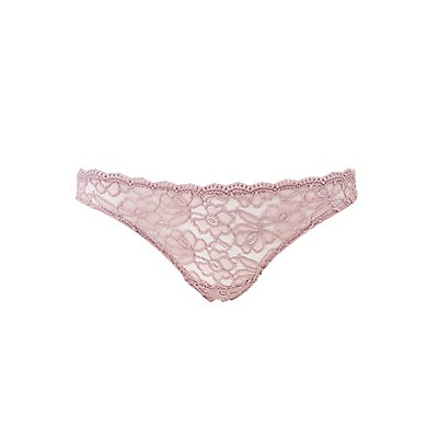 Scalloped Lace Thong Panties