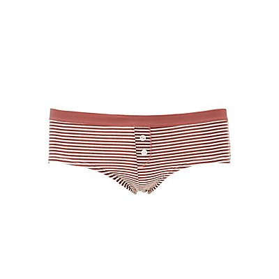 Striped Boyshort Hipster Panties
