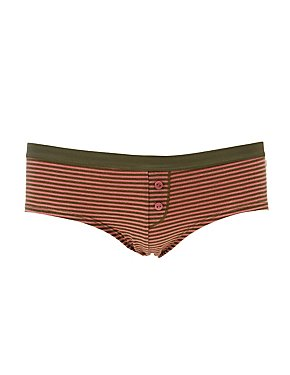 Striped Boyshort Hipster Panties