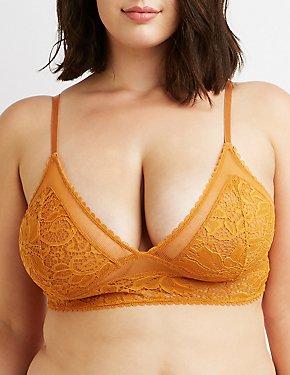 Plus Size Crochet Lace Bralette