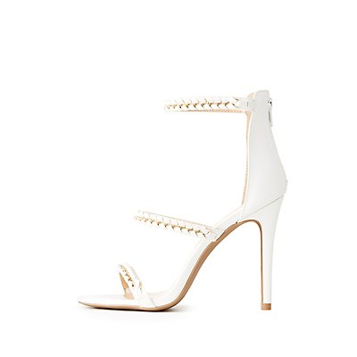Chain Braided Ankle Strap Dress Sandals