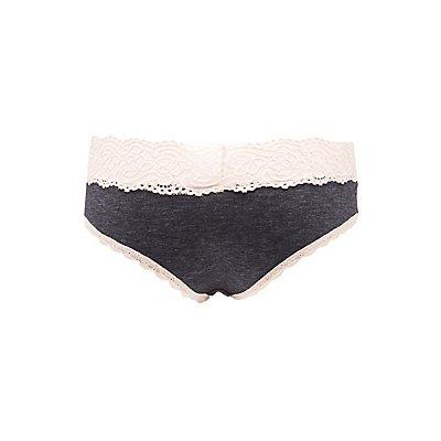 Scalloped Lace-Trim Boyshort Panties
