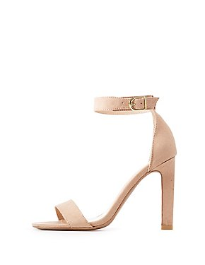 Faux Suede Two-Piece Dress Sandals