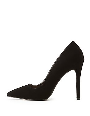 Bamboo Faux Nubuck Pumps
