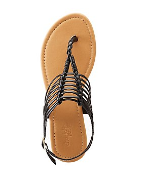 Caged T-Strap Sandals