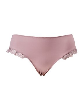 Plus Size Lace-Trim Boyshort Panties
