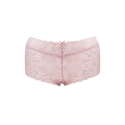Plus Size Scalloped Lace Boyshort Panties