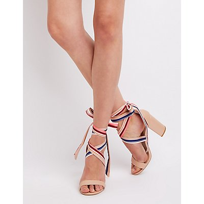 Lace-Up Ankle Wrap Sandals