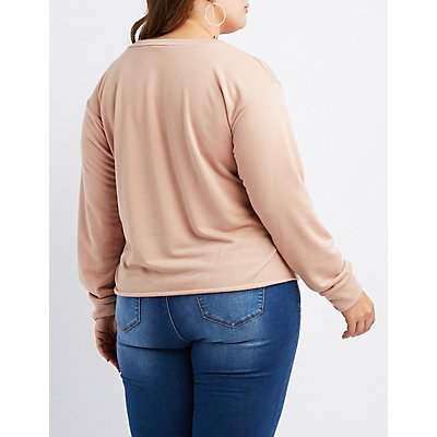 Plus Size French Terry Amor Sweatshirt