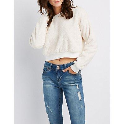 Faux Fur Pullover