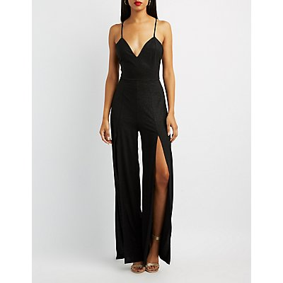 Strappy-Back Wide Leg Jumpsuit