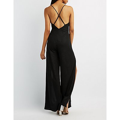 Strappy-Back Wide Leg Jumpsuit