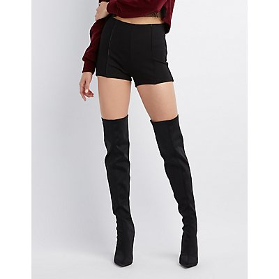 Faux Leather Hi-Rise Shorts
