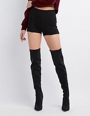 Faux Leather Hi-Rise Shorts