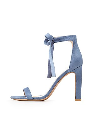 Ankle Strap Bow Stiletto Sandals